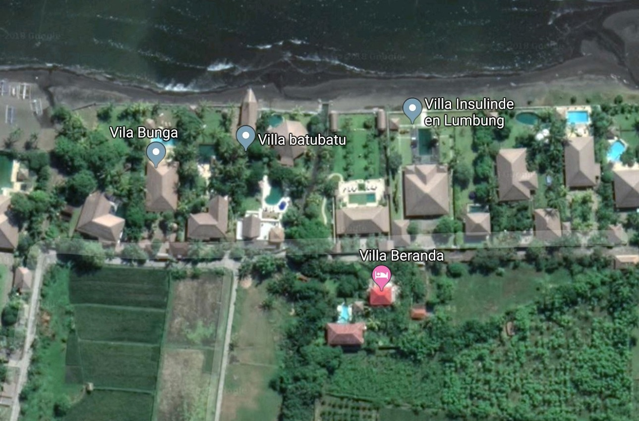 Google map villa Insulinde