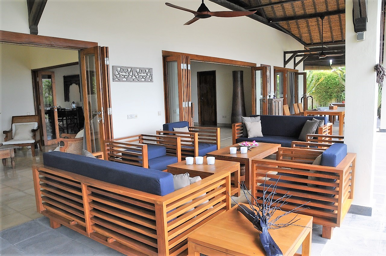 Bali Lovina beach vacation rental villa terrace